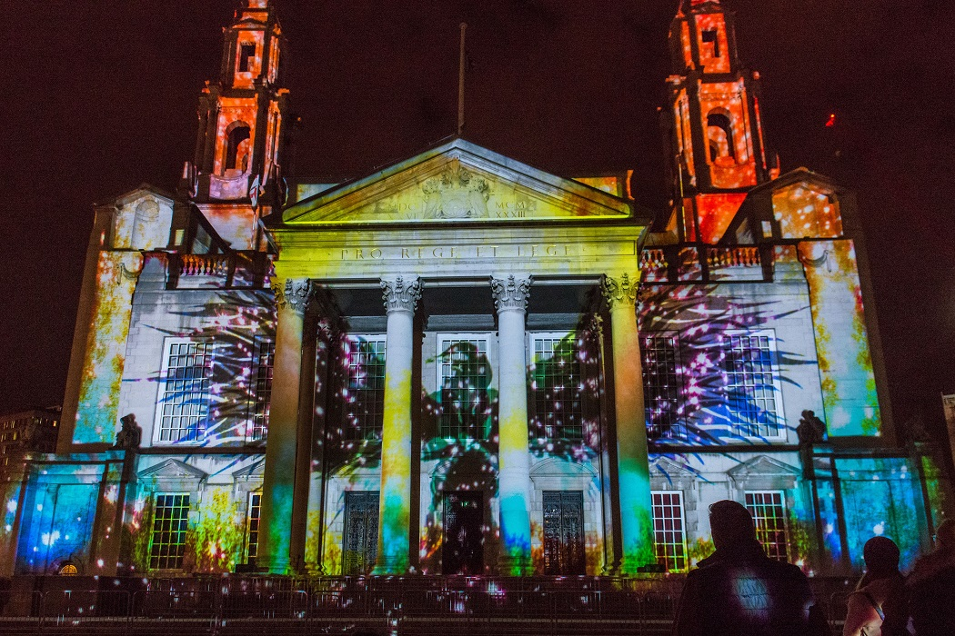 Leeds Light Night 2016 Town Hall projection