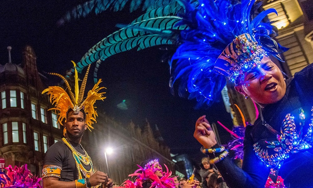 Leeds West Indian carnival (part of the Illuminated Night Carnival Parade)