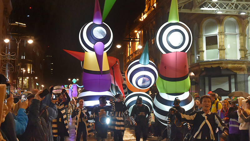 Light Night Leeds 2019 Lampadophores